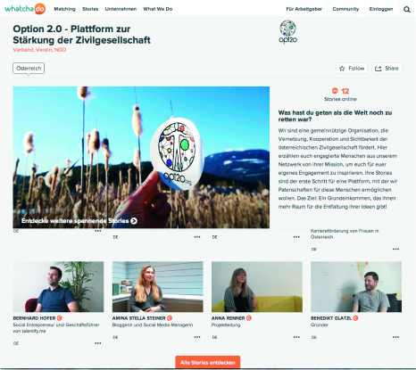 opt2o Changemakerchannel auf whatchado.com
